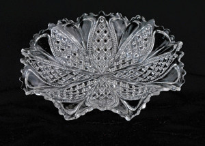 clear glass fluted plate