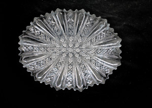 oval dish with pattern of diamonds