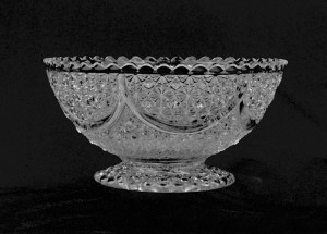 bowl with swags and hobnails