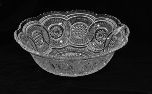 Large bowl with circles pattern
